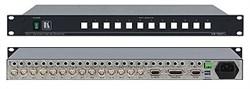 Kramer VS-1002xl-Коммутатор 10х2 видео- и балансных звуковых стереосигналов (с переключением по КГИ), 200 МГц - фото 54736