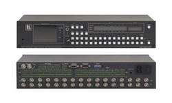 Kramer VS-162AVM-Коммутатор 16x16 видео- (разъемы BNC) и звуковых стереосигналов (разъемы RCA) (с переключением по КГИ) c встроенным контрольным монитором, 90 МГц - фото 54759