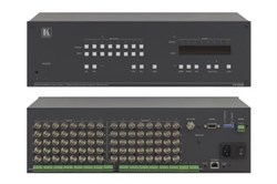 Kramer VP-885-Коммутатор 8х8 мультиформатный, для cигналов CV/YC/YUV, S/PDIF и балансных звуковых стереосигналов, 350 МГц - фото 54764