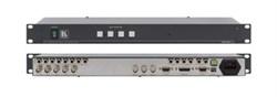 Kramer VS-401xlm-Коммутатор 4х1:3 звуковых и видеосигналов (с переключением по КГИ), 400 МГц - фото 54801