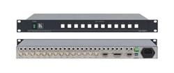 Kramer VS-1201xl-Коммутатор 12x1 звуковых и видеосигналов (с переключением по КГИ), 250 МГц - фото 54807