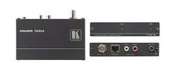 Kramer 718-15-Приемник композитного видео и звукового стереосигнала из витой пары (TP) с регулировкой уровня и АЧХ (до 1500 м) - фото 54883