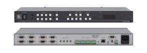 Kramer VP-4x4K-Коммутатор 4x4 VGA и балансных звуковых стереосигналов  с регулировкой аудио по входу и выходу и c технологией KR-ISP™
