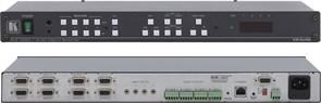 Kramer VP-8x8AK-Коммутатор 8х8 VGA и звукового стереосигнала с регулировкой аудио по входу и выходу и системой KR-ISP™
