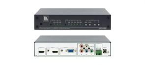 Kramer VP-435-Масштабатор сигналов HDMI, VGA или YUV в сигнал HDMI c добавлением в него небалансного стерео аудиосигнала, с поддержкой HDCP