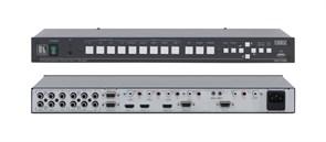 """Kramer VP-728-Масштабатор видео и графики / коммутатор без подрывов сигнала. 9 входов, включая HDMI и USB, выходы VGA, HDMI, HDTV, функция """"картинка в картинке"""""""