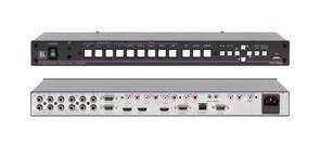 """Kramer VP-729-Масштабатор видео и графики / коммутатор без подрывов сигнала. 9 входов, включая HDMI и USB, выходы VGA, HDMI, HDTV, функция """"картинка в картинке"""", доп. управление по Ethernet"""