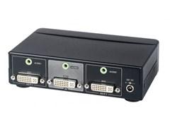 AV-BOX DA112AA (AV-DD02A-2) - Усилитель-распределитель DVI + стерео звук (1 вх. 2 вых.)