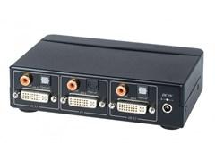 AV-BOX DA112AD (AV-DD02D-2)  Усилитель-распределитель DVI+звук цифровой оптический/коаксиальный (1 вх. 2 вых.)