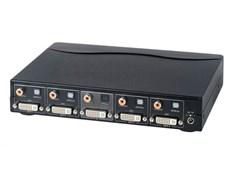 AV-BOX DA114AD (AV-DD04D-2) Усилитель-распределитель DVI+звук цифровой оптический/коаксиальный (1 вх. 4 вых.)