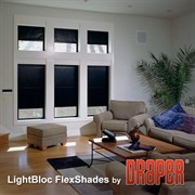 Draper Light Bloc SB 9060, 220V WxH=1880x1850 channel-ivory - Шторы