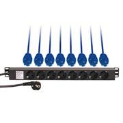 AVC Link DISTRIBUTER 8 SOCKET - Дистрибьютор питания на 8 розеток с кнопокой включения