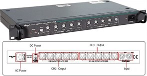 JEDIA JAD-125A - Распределитель аудио сигналов на 10 зон