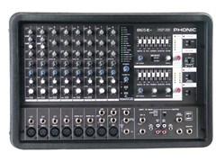 PHONIC POWERPOD 865 PLUS Микшерный пульт со встроенным усилителем мощности, 8 мик/лин входа, вкл 2 с