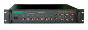 DSPPA MP-1010P - Микшер -усилитель, 6 зон c регулировкой  уровня выходного сигнала, 350 Вт/100В,  2 ми