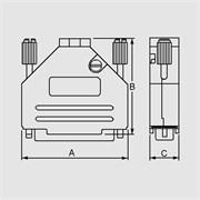 "CVM09G - Корпус для разъема ""D-SUB"" 9 конт.,металлический"