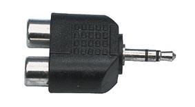 AC-010 - Разъем переходной 3.5мм стерео штекер-2x RCA  гнезда