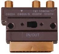 SCART 56S - Переходник SCART-3RCA+SVHS с переключателем