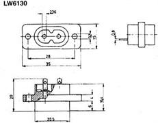 Kaiser PC-003  kgs7881 - Разъем питания на блок(вилка)