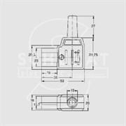 Kaiser PC-004  gst790 - Разъем питания на кабель угловой  (гнездо)