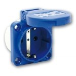 PCE SCHUKO-105-0b-синяя - Розетка SCHUKO панельная