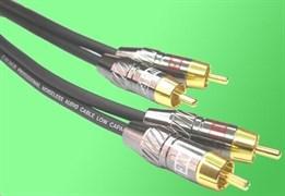 AVC Link CABLE-900/0.75Омblack - Кабель аудио 2xRCA - 2xRCA 0.75Омм