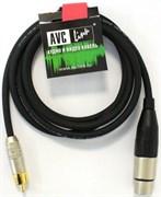 AVC Link CABLE-958/3-Black - Кабель аудио XLR гнездо - RCA штекер, длиной 3.0м