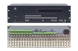 Kramer-VP-1608-Коммутатор 16x8 сигналов RGBHV и балансных звуковых стереосигналов с регулировкой аудио по выходу