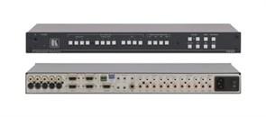 Kramer VP-27-Презентационный коммутатор 3x4x1 VGA, видео- и звуковых стереосигналов, 415/715/415 МГц (CV/YC/VGA)