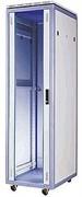 """ESTAP dg-rack drk16u66 - Рэковый шкаф закрытый со стеклянной дверью 19""""- на 16 U, 600*600 мм серый"""