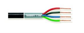 Tasker C268-BLACK - акустический кабель в двойной оболочке OFC 2х1.50+2х2,50 мм2