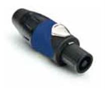 Amphenol SP-4-F Кабельный разъем для громкоговорителей, SP Серия, 4 контакта, Термопластик, Черный, Винтовой зажим