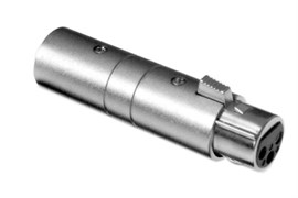 Amphenol AC3F3MBW Адаптер XLR 3 гнездо - XLR 3 штекер, черненый корпус