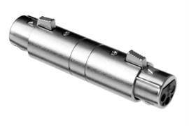 Amphenol AC3F3FBW Адаптер XLR 3 гнездо - XLR 3 гнездо, черненый корпус