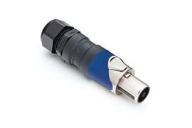 Amphenol SP-4-FNSG Кабельный разъем для громкоговорителей, SP Серия, PG, 4 контакта, Металл, Никель, Пайка кабеля