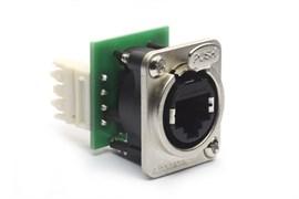 Amphenol RJX8FD6110 Панельный разъем Ethernet,XLRnet, Мама, D-тип, IDC 110, CAT6