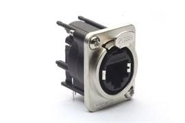 Amphenol RJX8FD3HB Панельный разъем Ethernet,XLRnet, Мама, D-тип, Горизонтально в ПП, Class D