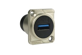 Amphenol AC-USB3-AA Панельный разъем USB 3.0, проходной, D-тип, Мама - Мама