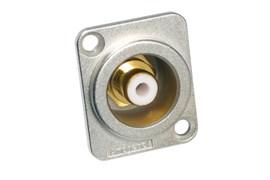 Amphenol ACJD-WHT Панельный разъем RCA, M серия, Мама, Никель, Белый, Позолоченные контакты