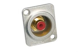 Amphenol ACJD-RED Панельный разъем RCA, M серия, Мама, Никель, Красный, Позолоченные контакты