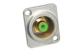 Amphenol ACJD-GRN Панельный разъем RCA, M серия, Мама, Никель, Зеленый, Позолоченные контакты