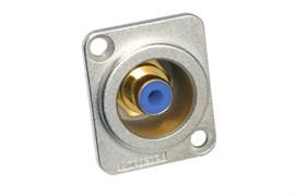 Amphenol ACJD-BLU Панельный разъем RCA, M серия, Мама, Никель, Голубой, Позолоченные контакты