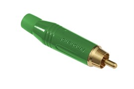 Amphenol ACPR-GRN Кабельный разъем RCA, M серия, Папа, Цветной, Зеленый, Позолоченные контакты