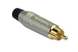 Amphenol ACPR-SBK Кабельный разъем RCA, M серия, Папа, Матовый никель, Черный, Позолоченные контакты