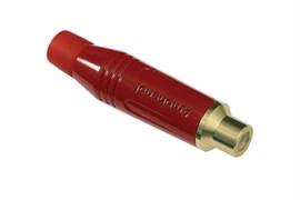 Amphenol ACJR-RED Кабельный разъем RCA, M серия, Мама, Цветной, Красный, Позолоченные контакты