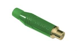 Amphenol ACJR-GRN Кабельный разъем RCA, M серия, Мама, Цветной, Зеленый, Позолоченные контакты