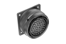 Amphenol MP-6256-61P Круглый разъем серии MP-62, 61 контактов под пайку, штекер на панель