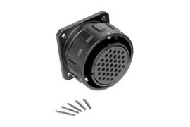 Amphenol MP-4164-37S Разъем аудио серии MP-41, 37 обжимных контактов, гнездо на панель