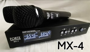 FORTE PROFESSIONAL MX-4 - 2-ая радио микрофонная система
